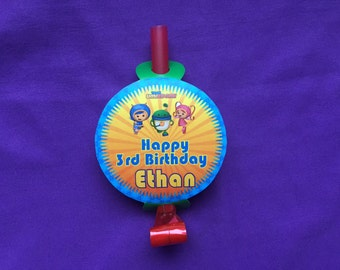 12 Personalized Team Umizoomi Party Blowouts, Party Blowers, Party Favors