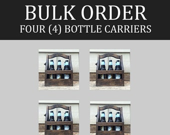 4-pack of 6-packs - Bulk Customizable Beer Caddies / Bottle Carriers / Totes (lot of 4)
