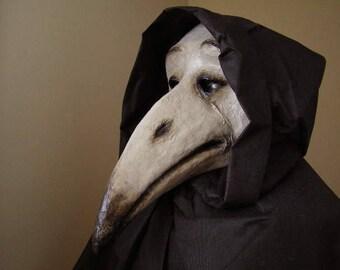 Masquerade mask Plague doctor mask Crow mask Raven mask Bird mask Scary mask Paper mache mask