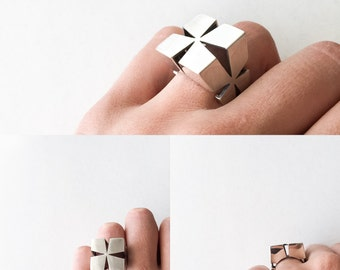 "Ring ""Cubo"" Collection - Sterling Silver"