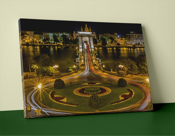 The Budapest Chain Bridge on Mirror Wrapped HP Professional Canvas