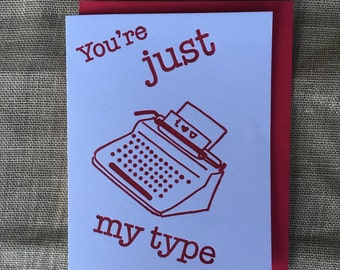 Just My Type Letterpress Card