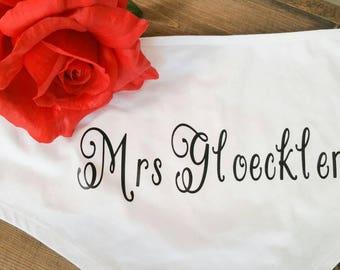 Personalized wedding underwear.