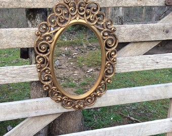 Vintage Mirror, Vintage Syroco Mirror, Vintage Wall Mirror, Home Decor, Syroco, Hollywood Regency, Ornate Mirror, Vintage Gold Mirror