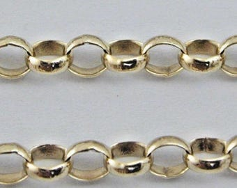 "Belcher 9ct yellow gold chain 25 1/2"" 10.43g"