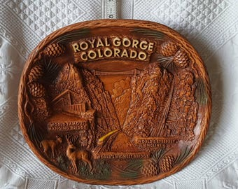 Vintage Royal Gorge COLORADO souvenir plate