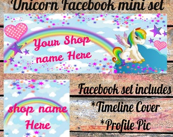 Unicorn Facebook Timeline mini set