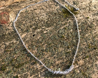 Loop Necklace. Silver Necklace. Joanna Gaines Necklace. Joanna Gaines Jewelry. Rustic Necklace.  Elegant Necklace Dainty Necklace. Elegant.