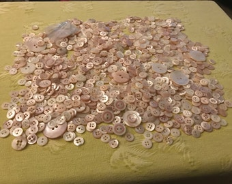 Few Hundred Vintage Shell Buttons