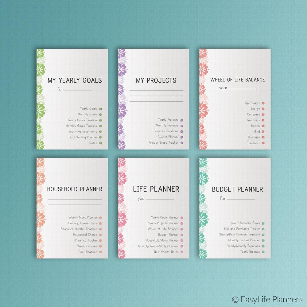 SalLIFE PLANNER Printable Ultimate Life Binder A4 Size Home