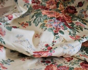 Vintage  french fabric shintz, 100% coton, 1950s