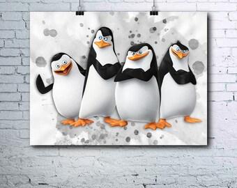 Madagascar Birthday - Penguins of Madagascar Print - Nursery Decor - Penguins of Madagascar Poster - Penguins of Madagascar Printables