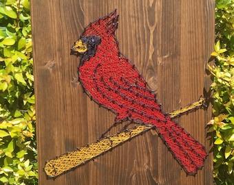 St. Louis Cardinals Baseball Sports Team Man Cave String Art Wood Sign