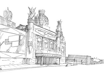Ink Sketch of The Corn Palace in Mitchell, South Dakota