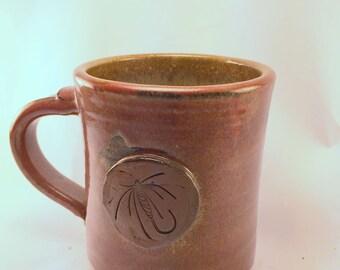 Wet Fly Mug, with Iron Red Glaze