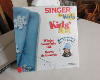 Singer for Kids - Kids' Kit - Winter Snowflake Hat craft kit for Kids