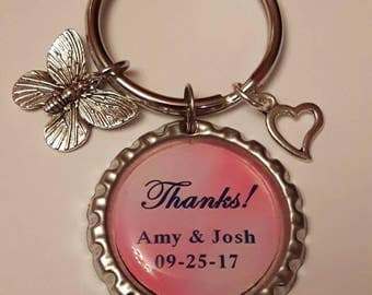 25 keychains, Wedding Favors, Employees, Marketing Giveaways, Teachers, Birthday Parties, Class Gifts, Wholesale Any Design
