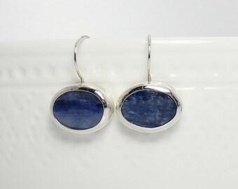 Blue Kyanite earrings, Kyanite jewelry, Blue Kyanite jewelry, Blue earrings, Blue jewelry, Blue Statement earrings, Unique gift for women