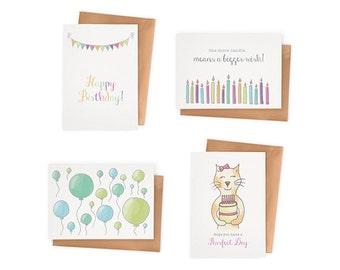 Birthday Cards – Set of 4