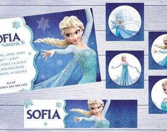 18  personalized frozen elsa invitation printed and cut birthday party