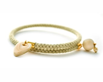 Heart Charm Bracelet, Heart Charm, Rope Bangle, Rope Bracelet, Cuff Bracelet, Cuff Bracelets For Women, Bohemian Bracelet, Boho Bracelet