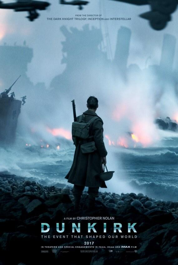 "Dunkirk Movie 2017 Poster, Christopher Nolan Film, Tom Hardy, Cillian Murphy, Wall Deco, Hot Unique Art Print, Size 13x20"" 24x36"" 32x48"""