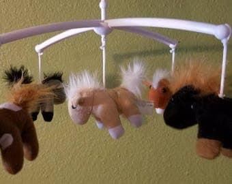 Custom Horses baby mobile, FREE SHIPPING!!!