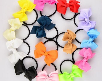 Fashion Colorful Girl Women Ribbon Bow Elastic Hair Tie Rope String Band Ring Accessory Bowknot Hiar Ring -YTC06