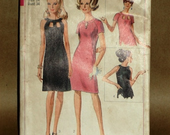 Vintage Simplicity 6838 dress sewing pattern