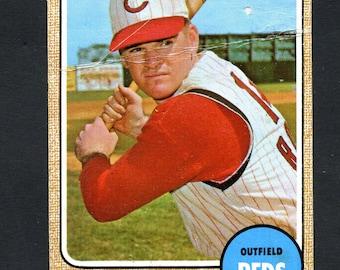 1968 Topps Baseball Pete Rose #230 CinCinnati Reds HOF See Scan