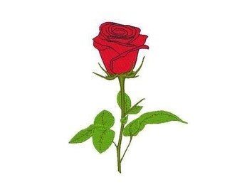 Red Rose Machine Embroidery Design