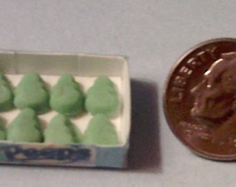 Dollhouse Miniature Christmas Tree Peeps in Holiday Package