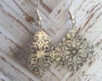 Intricate Metal Dangle Earrings