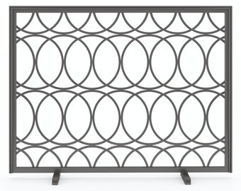 Custom Metal Fireplace Screen