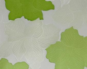 Vintage Japanese Silk Kimono Fabric Foliage