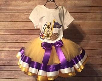 Minnesota Vikings Cheerleader Tutu Costume