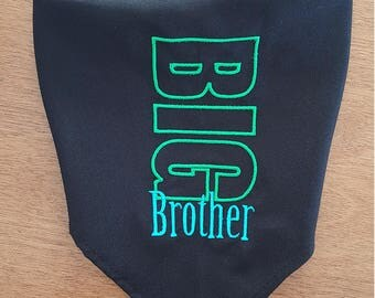 Personalized Tie-On BIG/LIL Brother/Sis Dog Bandana