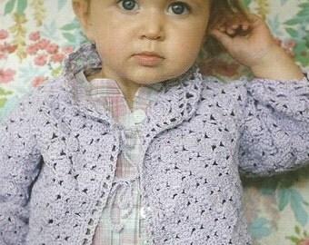 Instant Download PDF - Pretty Girls Cardigan Crochet Pattern  (CB62)