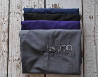 New Daddy Scrub Top * Delivery Scrubs * Baby Shower Gift for Dad * New Dad Gift
