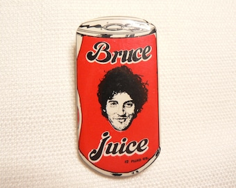RARE Vintage Early 80s Bruce Springsteen - Bruce Juice Pin / Button / Badge