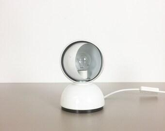 original modernist white Artemide Eclisse table light 1980s designed by Vico Magistretti   lamp   midcentury modern eames panton era