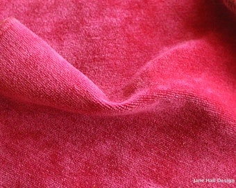 Maxwell Fabric Pink Velvet Upholstery Fabric, From Jane Hall Design