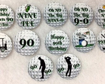 Set of 50/100/150/200 Personalized Golf 90th Birthday Party  1 Inch Confetti Circles
