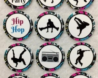 Set of 50/100/150/200 Hip Hop Break Dance Party  1 Inch Confetti Circles