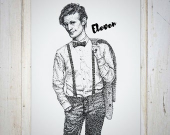 Doctor Who Wall Decor Art Print, Birthday Gift, Matt Smith Wall Decor Art Prints, Eleventh Doctor Art, Bowties Are Cool, Doctor Who Gift