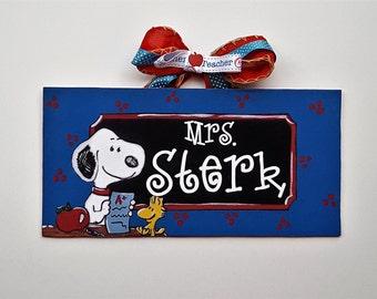 Snoopy Teacher Sign