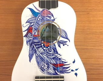 Hand painted ukulele, customize to any request!
