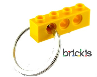 LEGO® Technic keychain yellow zipper pull party favors birthday parties child gift