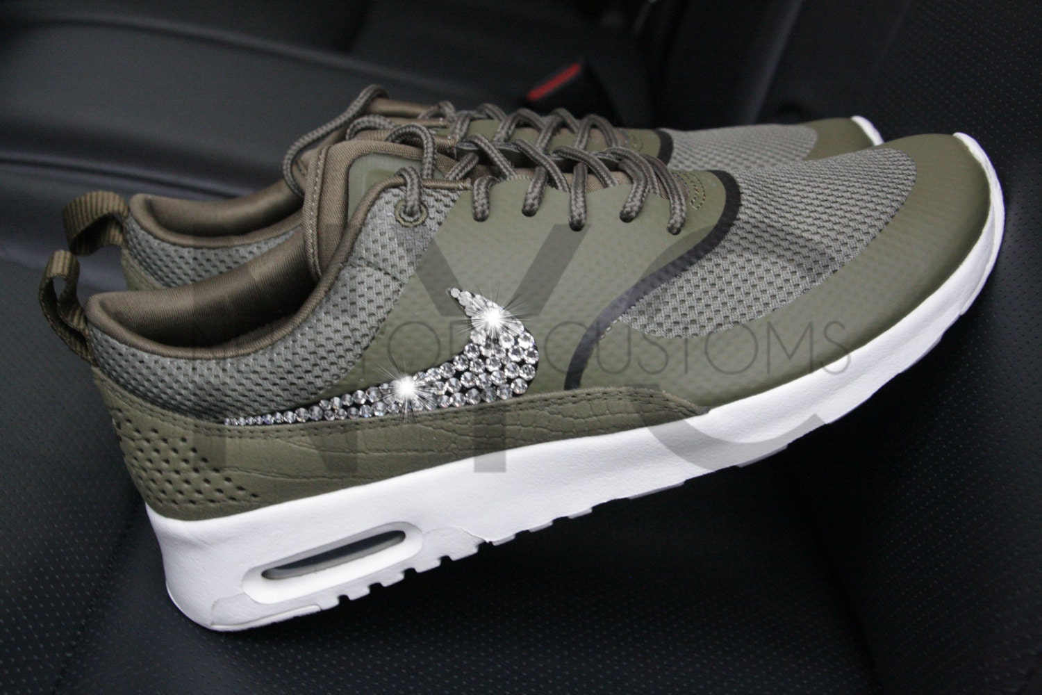 ready to ship women 8 8 5 nike air max thea olive green. Black Bedroom Furniture Sets. Home Design Ideas
