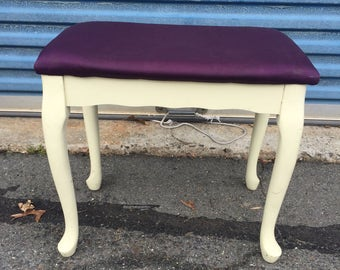 Small vanity seat or bench